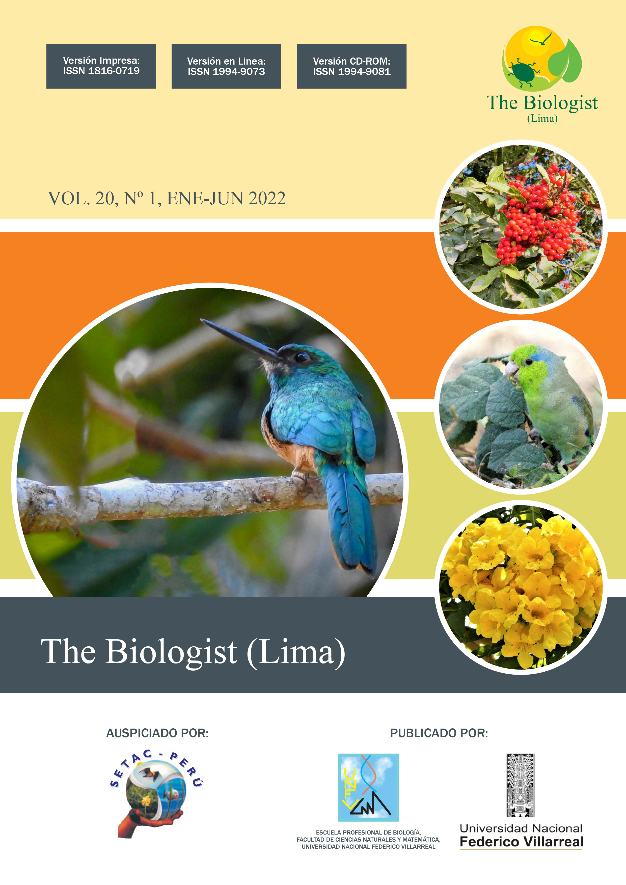 Ver Vol. 20 Núm. 1 (2022): The Biologist Journal Manuscript accepted, early view
