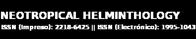 Revista Neotropical Helminthology